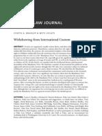 Withdrwal From International Custom