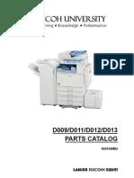 Manual de Partes Aficio MP4000-5000