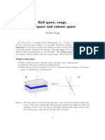 Null Space and Range