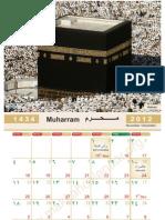 Islamic Calendar 2013 1434
