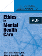 Concise Guide to Ethics in Mental Health Care
