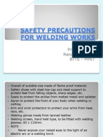 Safety Precautions for Welding Works Lesson Demo