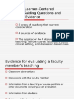 Evaluating Learner-Centered Teaching 2007