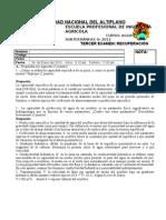 RESPUESTAS A EXAMEN DE RECUPERACIÓN 2012-II