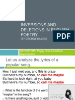 Inversions and Deletions in English Poetry v.2