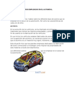 ACEROS EMPLEADOS EN EL AUTOMÓVIL