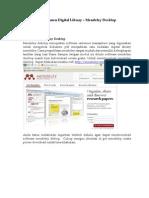Modul Pelatihan Mendeley Manajemen Digital Library