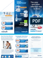 Water Flosser Patient Education Brochure