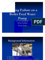 Bearing Failure on a Boiler Feed Water Pump
