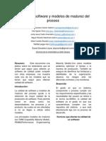 Calidad Del Software y Modelos de Madurez Del Proceso