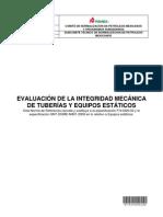 EVALUACIÓN DE LA INTEGRIDAD MECÁNICA  PEMEX-2012