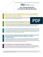 "Listas de ""Five Things Physicians and Patients Should Question"" publicadas pelas Sociedades de especialidades médicas americanas"