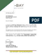 Intro Letter LDC