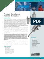 Pressure Transducers Thin Film