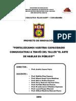 PROYECTO DE INNOVACIÓN EL ARTE DE HABLAR - IE EKC - 2012