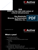 2008 And The New (Old) Nature Of Critical Infrastructure
