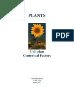 unit plan on plants