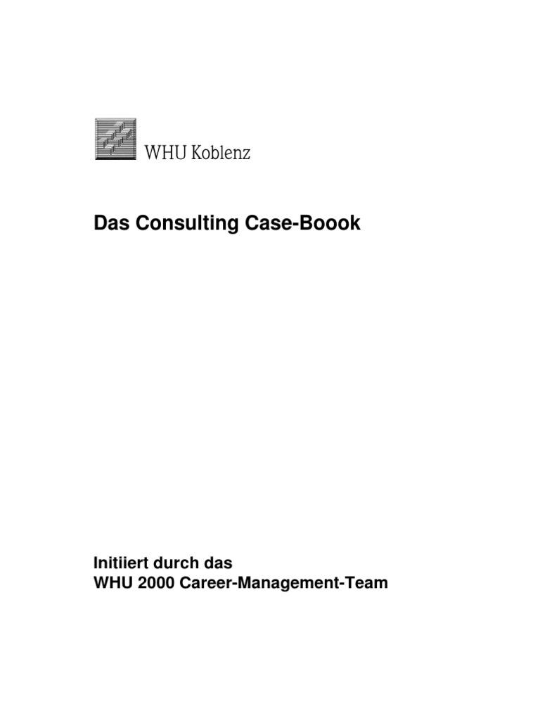 Mckinsey CaseBook   Consultant   Strategic Management