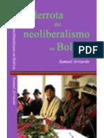 la derrota del neoliberalismo en bolivia