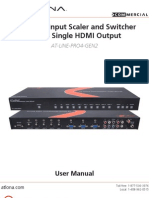 Atlona AT-LINE-PRO4-GEN2 10 Input Scaler and Swither Single HDMI Output Manual