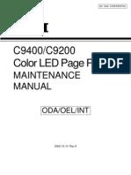 C9200, C9400 Service Manual