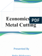 Economics of Metal Cutting