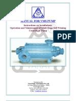 O&M Manual for Vms Pump