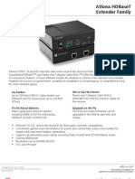 Atlona HDMI HDBaseT Extender Datasheet