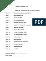 010AB. AKHLAQ SYLLABUS – CLASS