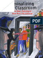 Criminalizing the Classroom-new York