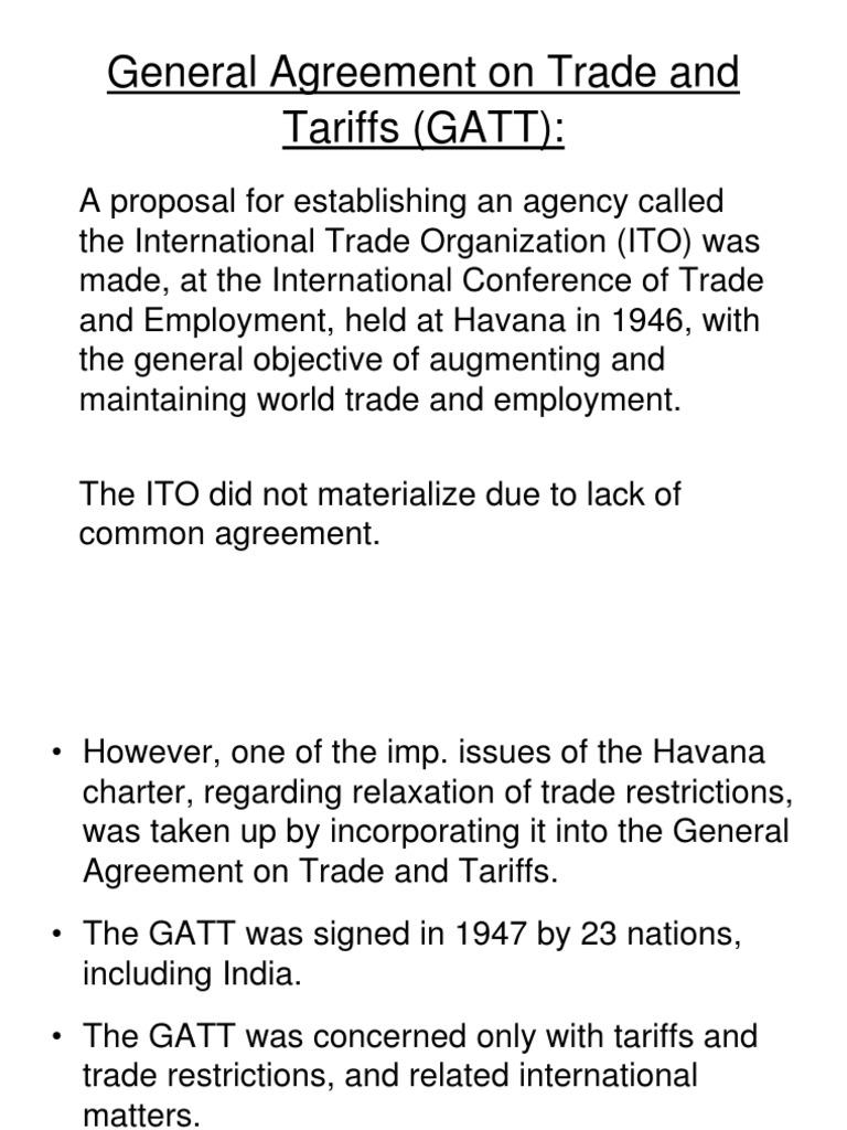 03 Gatt General Agreement On Tariffs And Trade Uruguay Round