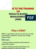 Training on Result Based Management