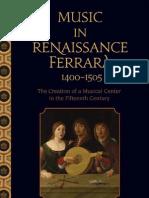 Music in Renaissance Ferrara 1400-1505