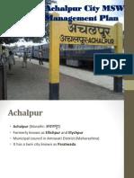 Achalpur City Waste Management Plan
