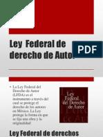 Ley Federal de Derecho de Autor