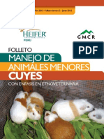 Folleto Manejo de Animales Menores Cuyes Con Enfasiss en Etnoveterinaria