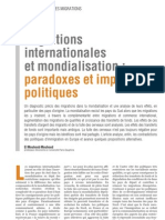 """Migrations internationales et mondialisation"