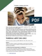 ABNT para Trabalhos Acadêmicos 2011