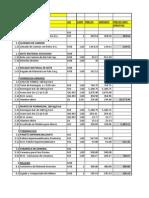 Analisis Unitario de Partidas PRESUPUESTO