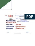 prezzi 2013