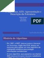 O algoritmo AES - Apresentação e Descrição da Estrutura.slides