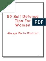 50 Self Defense Tips for Women