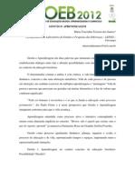GESTÃO E APRENDIZAGEM - artigo apresentado em congresso 2012