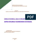 Cursul de Schimb Al Leului Si Influenta Acestuia Asupra Echilibrului Macroeconomic Din Romania