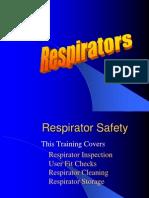 Respirator requirements