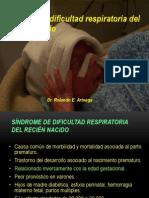 SÍNDROME DEL DISTRÉS RESPIRATORIO DEL RECIÉN NACIDO