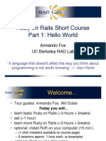 Ruby on Rails Short Course