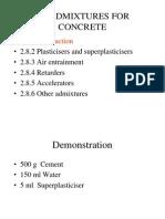 2.8 Admixtures