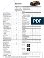 BMW X1 Specification Sheet