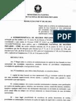 Resolução CNSP 283/13